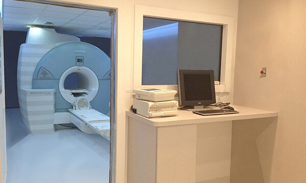Mobile MRI Rental Interior with Office