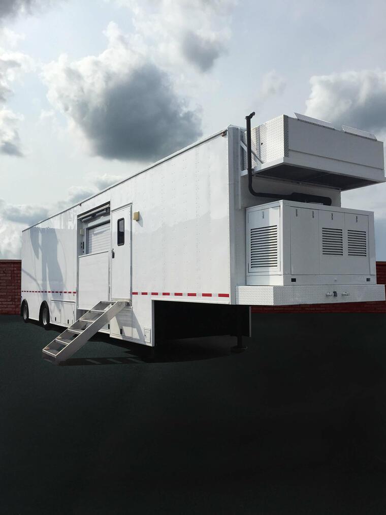 Mobile MRI Rental Trailer at Site